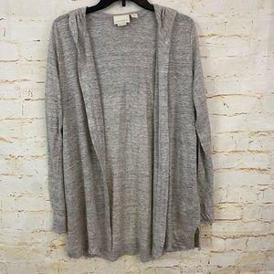 Cynthia Rowley 100% linen L cardigan grey duster